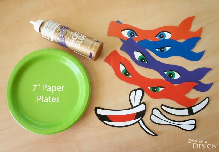 photograph regarding Printable Ninja Turtles identified as Ninja Turtle Paper Plate Banner with Absolutely free Printables