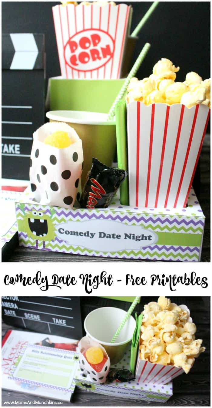 comedy movie date night with free printables moms munchkins