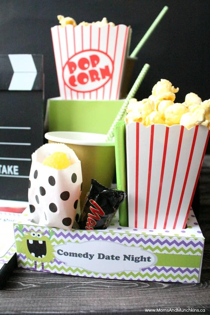 Comedy Movie Date Night Printables