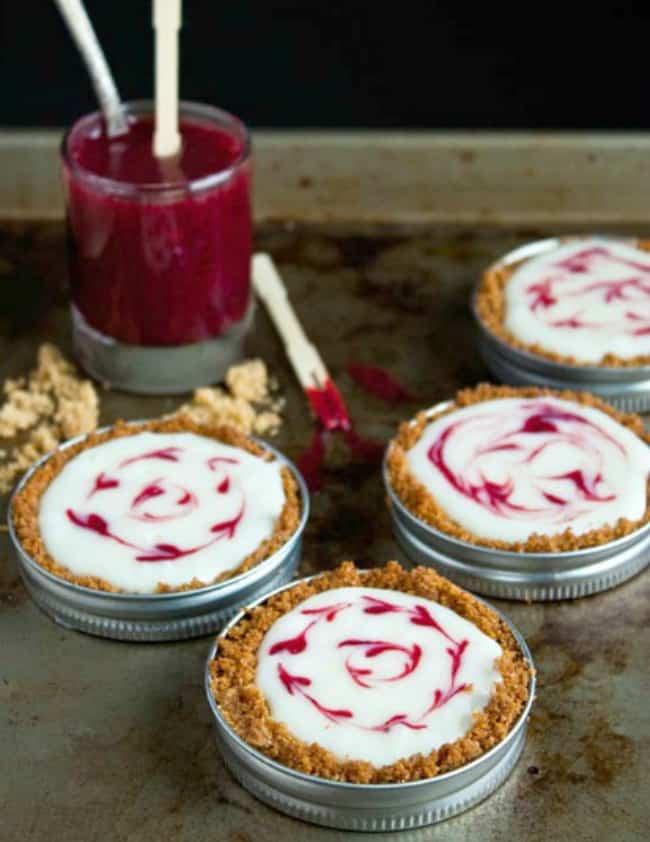 Mason Jar Lid Desserts