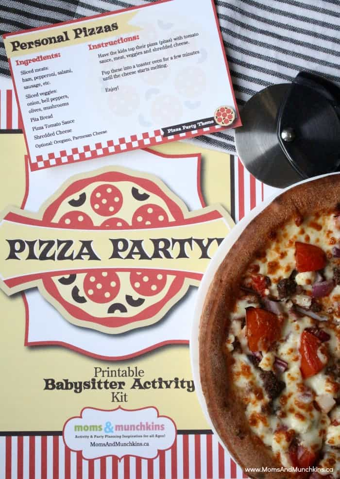 Pizza Party Activities Babysitter Activity Kit