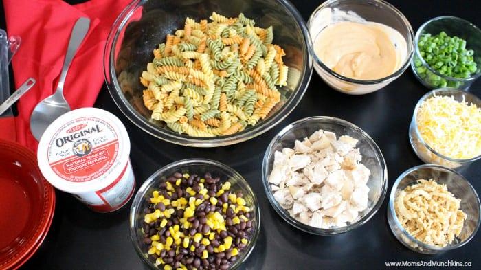 Southwest Chicken Pasta Salad - Delicious Party Recipes