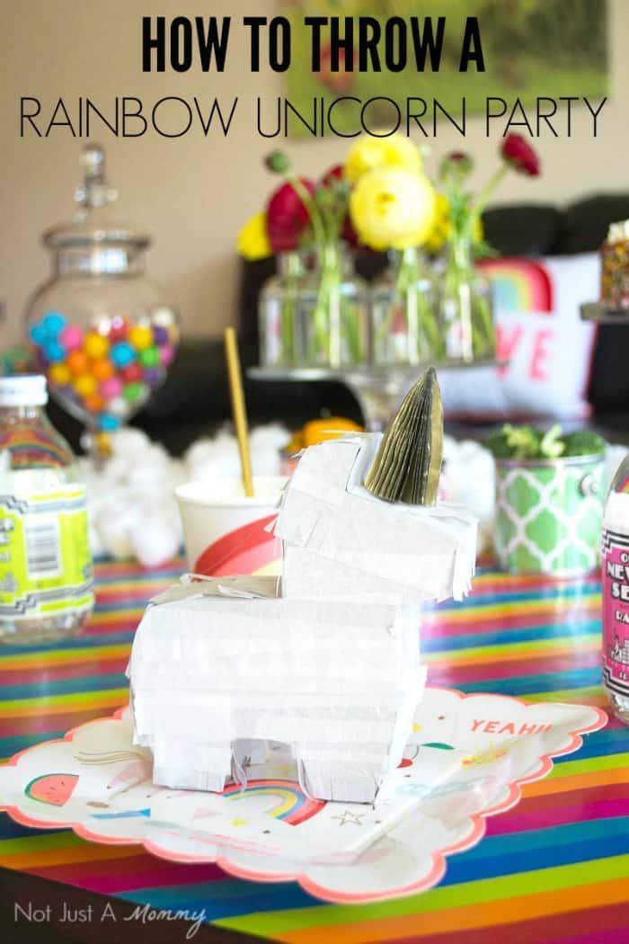 Cute halloween decor - Rainbow Unicorn Party Ideas Moms Amp Munchkins