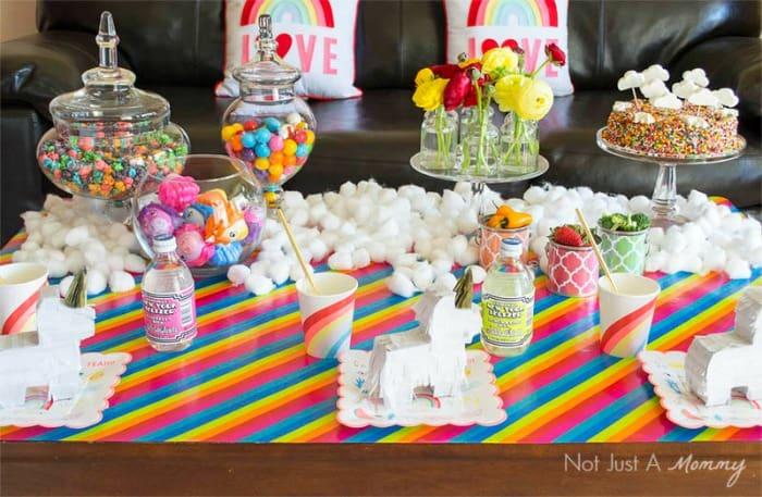 Rainbow Unicorn Party Ideas Moms Amp Munchkins