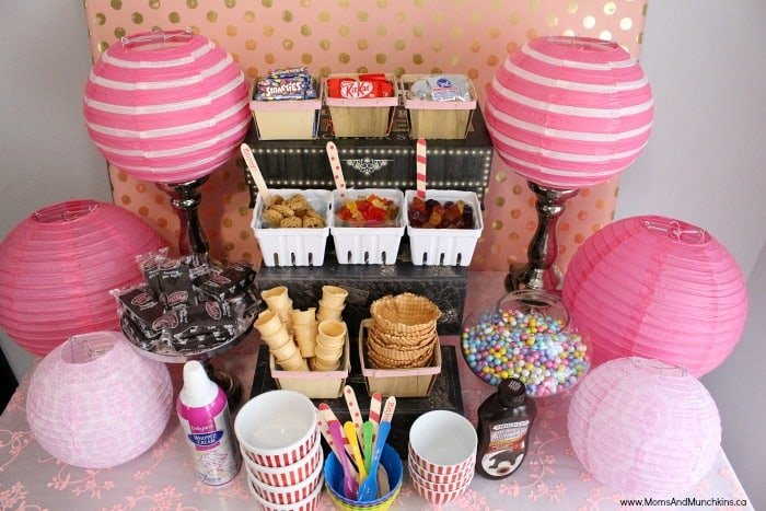 Ice Cream Buffet Ideas