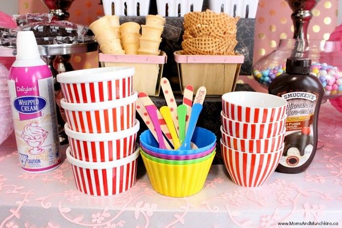 Ice Cream Buffet Ideas