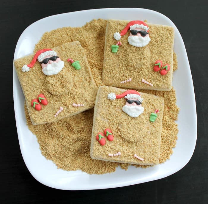 Santa Beach Cookies Tutorial