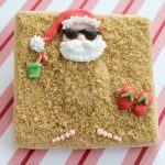 Santa's Summer Vacation Beach Cookies