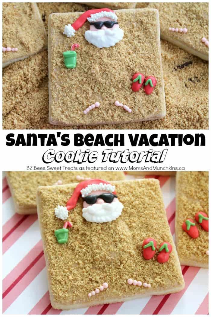 Santa Beach Cookies Tutorial