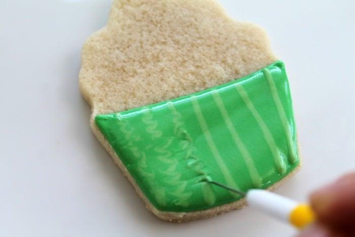 Watermelon Cupcake Cookies Tutorial