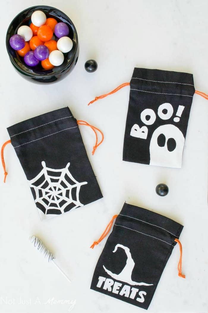 DIY Halloween Stencil Bags