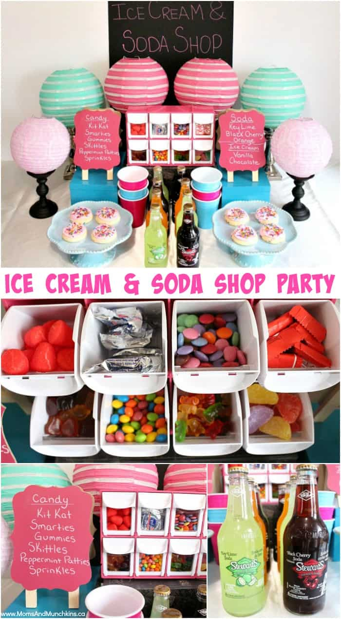 Ice Cream & Soda Shop Party