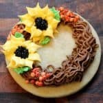 Sunflower Wreath Cookies