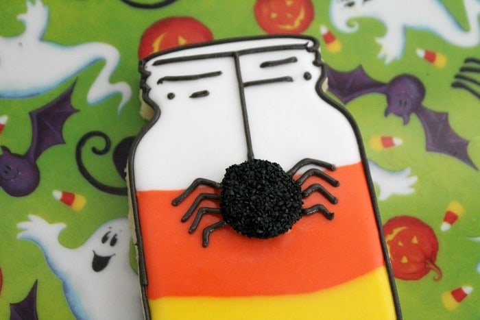 Candy Corn Mason Jar Cookies