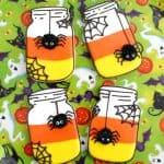Candy Corn Mason Jar Cookies