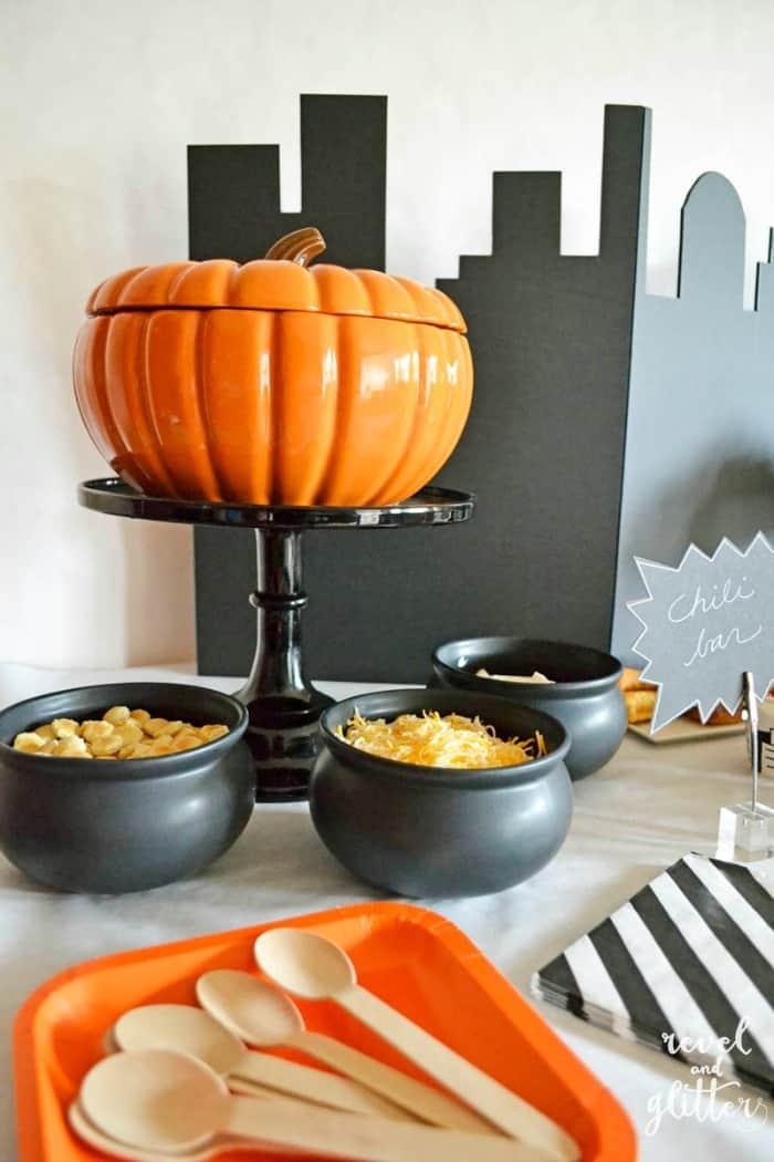 Halloween Chili Bar