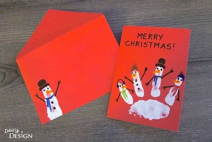 Handprint Snowman Christmas Cards