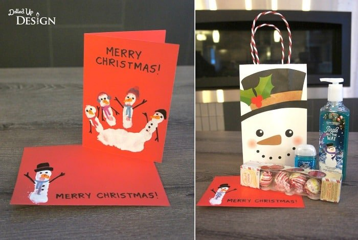 Handprint Snowman Christmas Cards