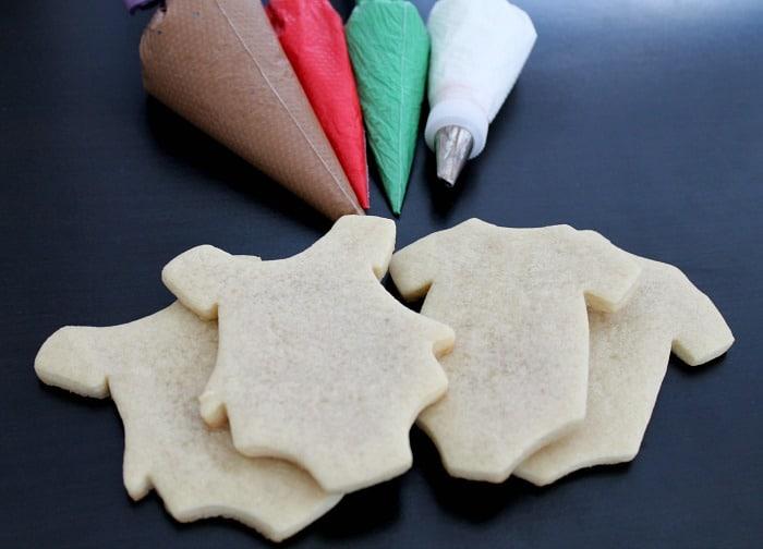 Christmas Cookie Onesie Tutorial - Gingerbread Baby Cookies
