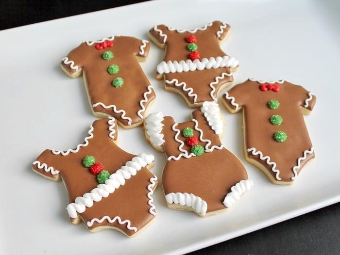 Christmas Cookie Onesie - Gingerbread Baby Cookies