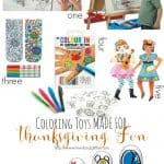Coloring Toys Made For Thanksgiving Fun