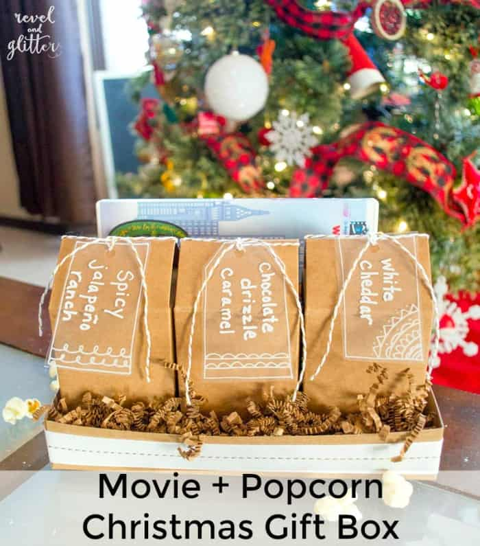 Movie and Popcorn Christmas Gift Box