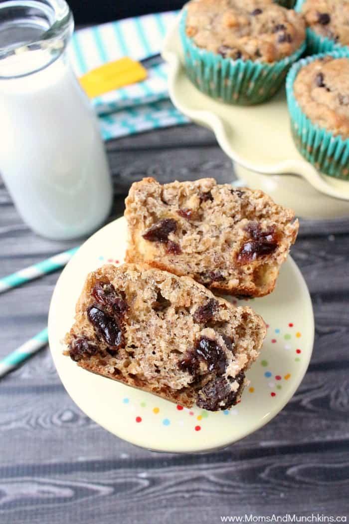 Cheerios Banana Raisin Muffins