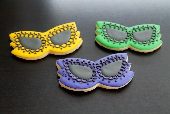Mardi Gras Cookies Tutorial
