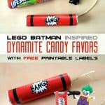 Lego Batman Inspired Dynamite Candy Favors