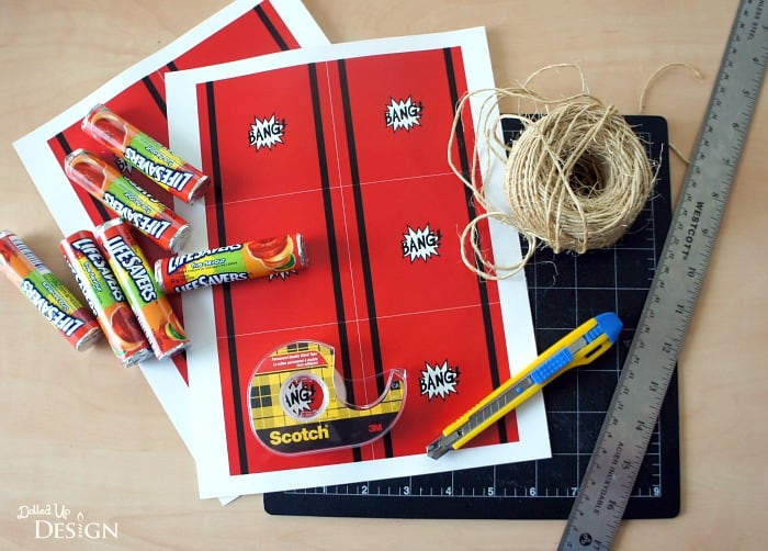 Dynamite Party Favors with Free Printable