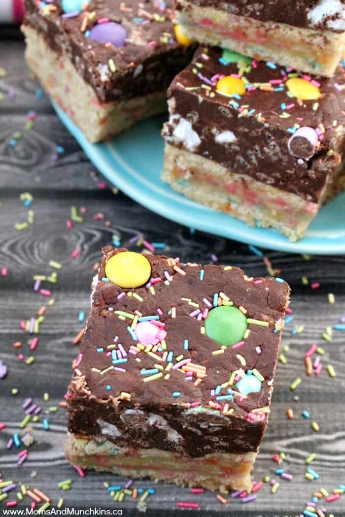 Easter Fudge Cookie Bars