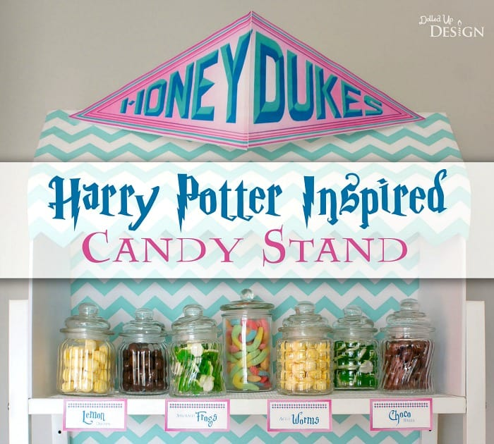 picture about Honeydukes Sign Printable identified as Honeydukes Harry Potter Sweet Buffet - Mothers Munchkins