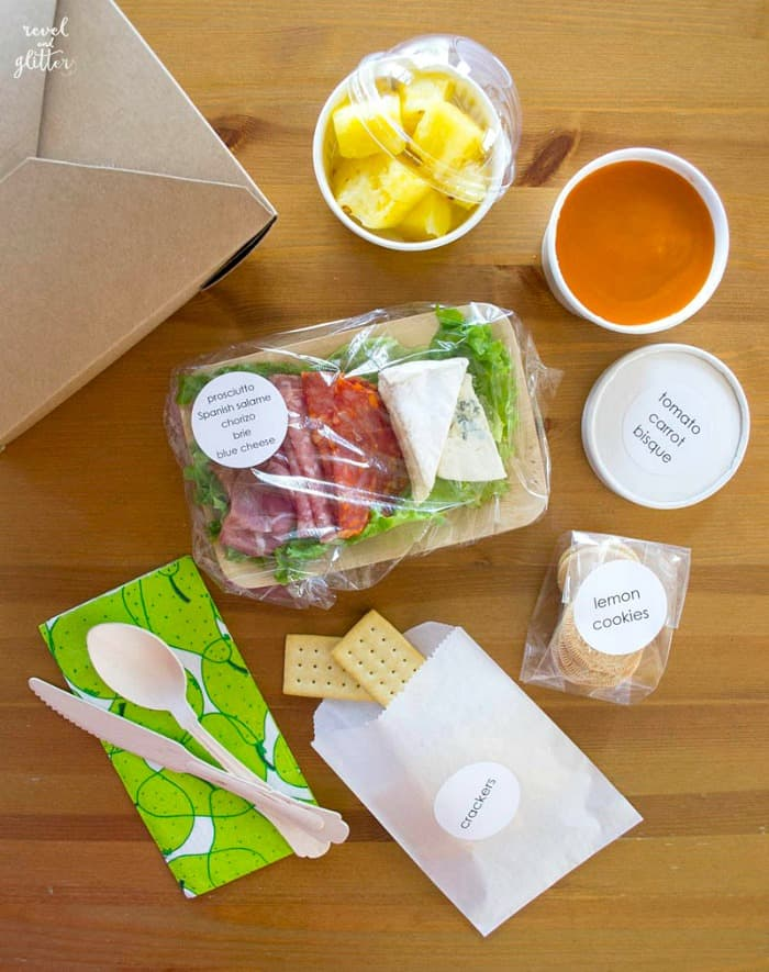 Creative Picnic Lunch for Adults