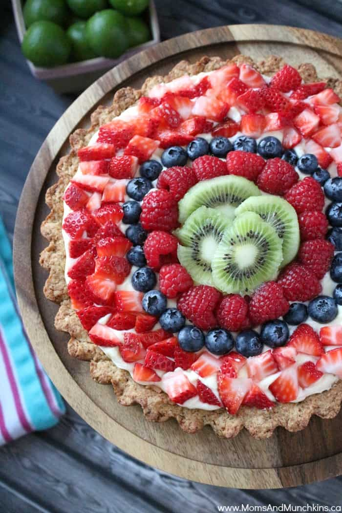 Key Lime Coconut Fruit Tart