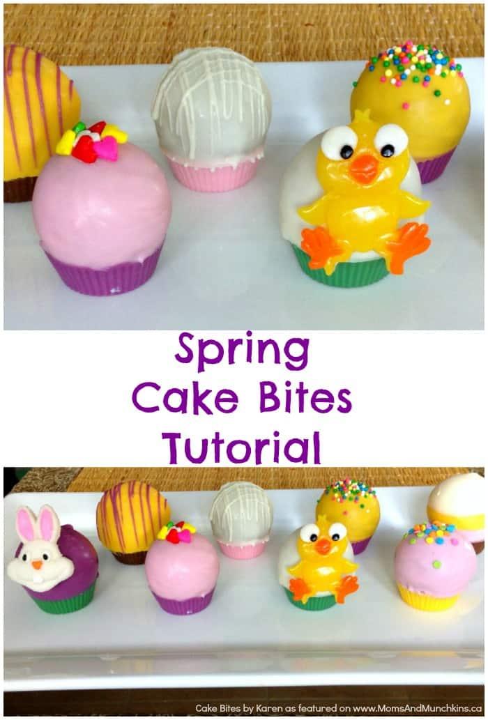 Spring Cake Bites Tutorial