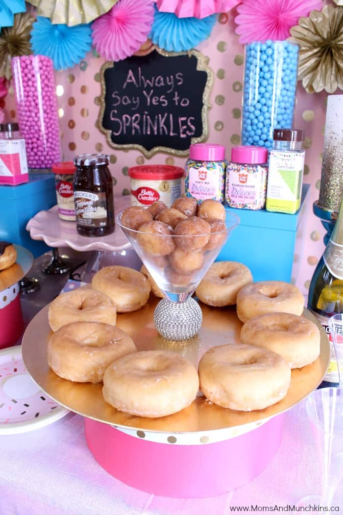 Donut Party Table
