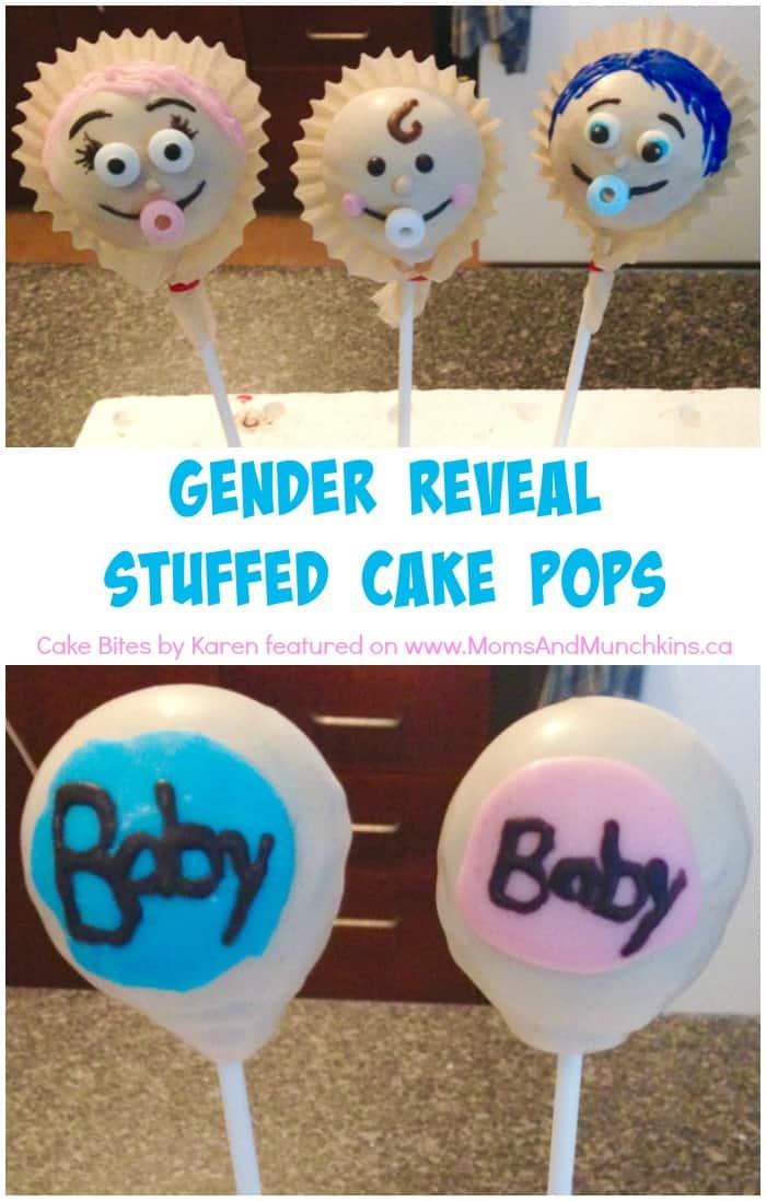 Gender Reveal Stuffed Cake Pops