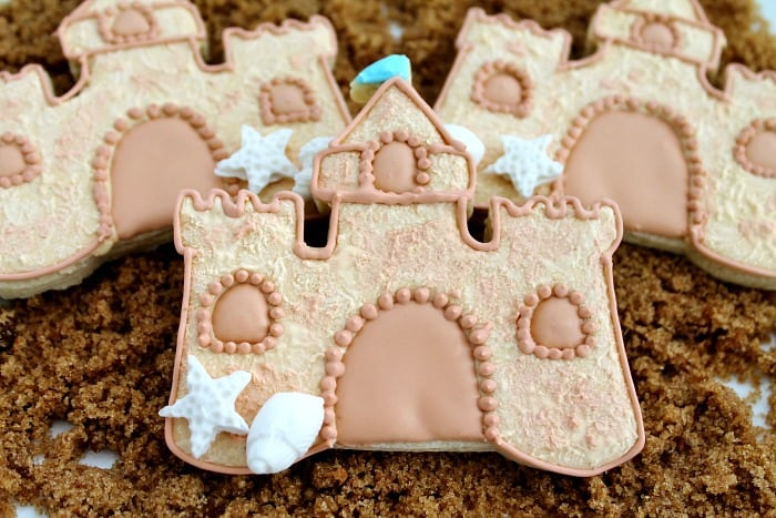 Sand Castle Cookie Design