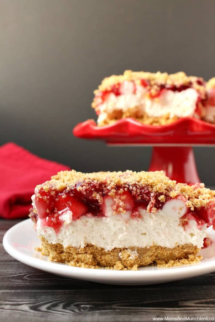 No Cheese Cherry Cheesecake Bars