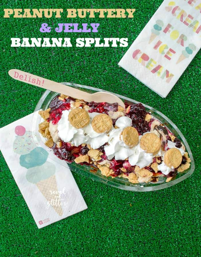 Peanut Butter and Jelly Banana Splits