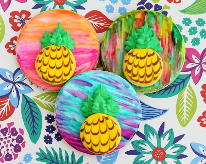 Pineapple Cookies Decorating Tutorial