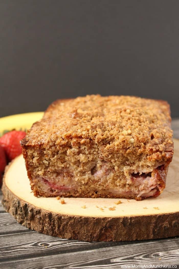 Strawberry Banana Bread Recipe