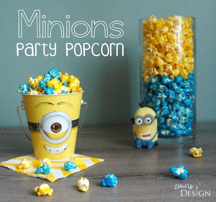 Minions Party Popcorn Recipe Moms Amp Munchkins