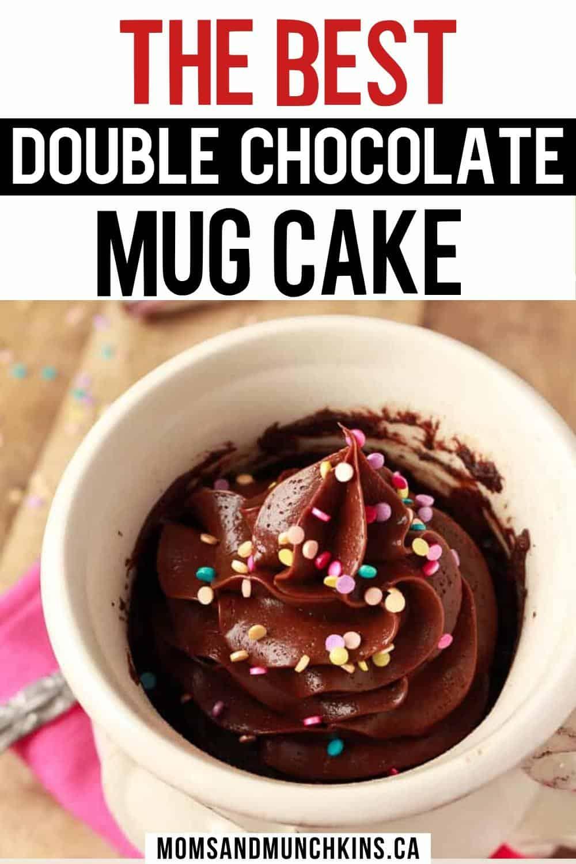 Best Double Chocolate Mug Cake