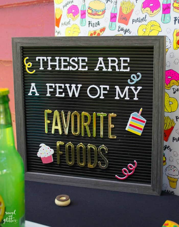 Favorite Foods Party