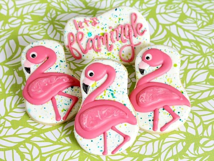 Flamingo Cookies Decorating Tutorial