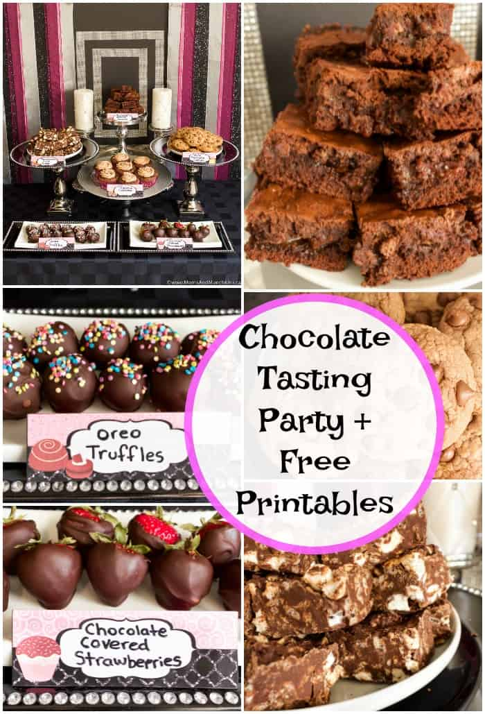 Chocolate Tasting Party plus Free Printables