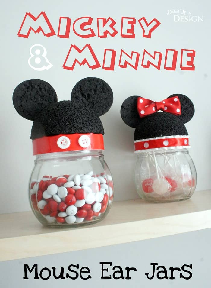 Mickey and Minnie Mouse Ear Jars Tutorial