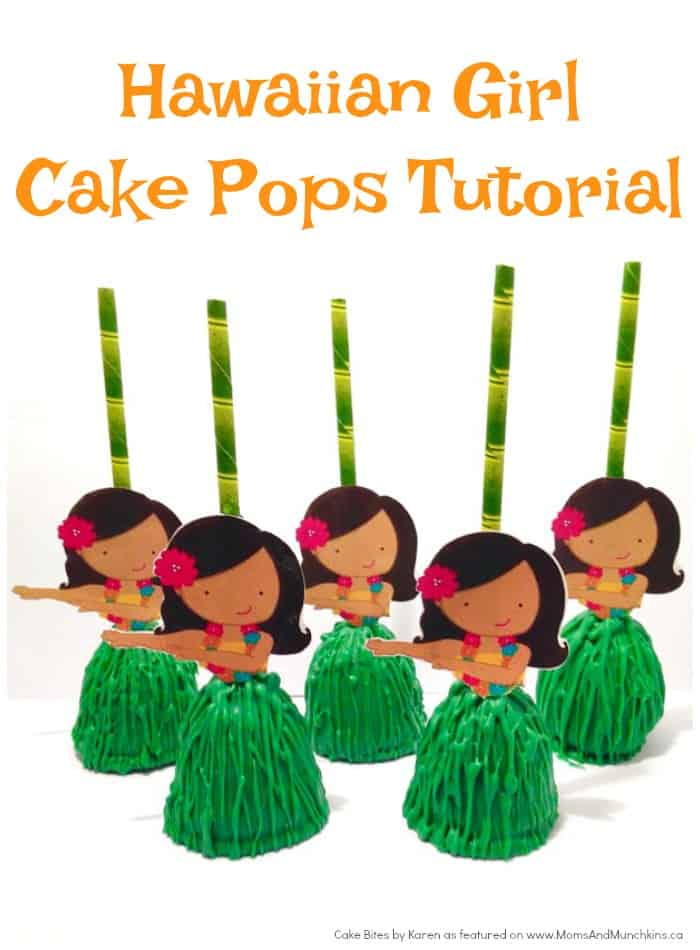 Hawaiian Girl Cake Pop Tutorial