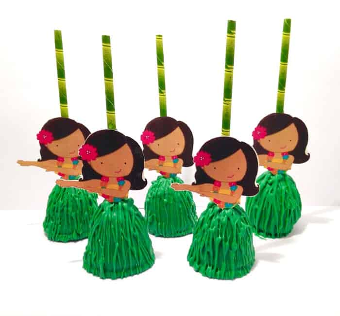 Hawaiian Girl Cake Pops